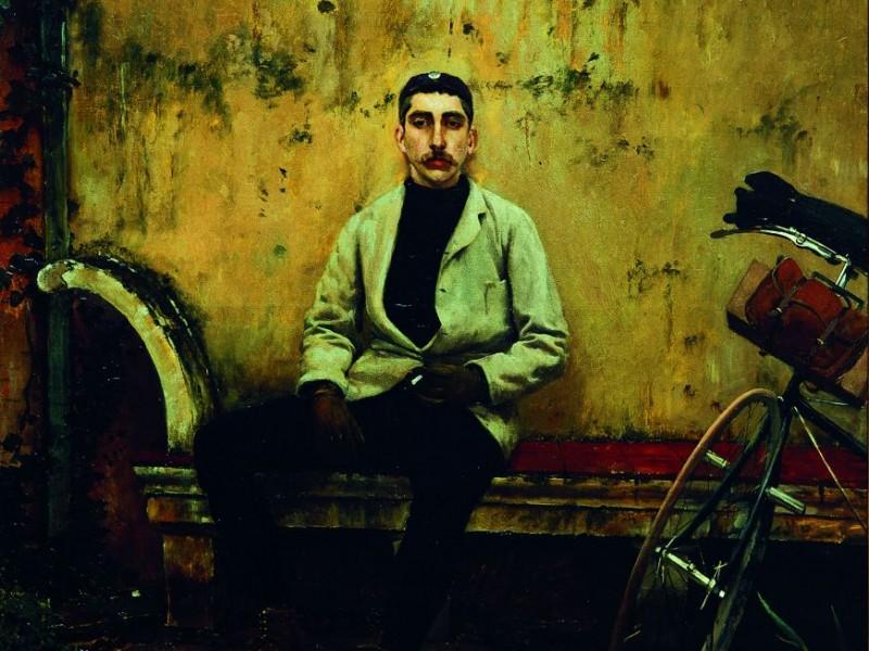 02 Rusiñol - Ramon Casas velocipedista - Col Banc Sabadell copia
