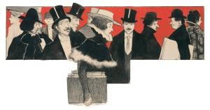 A su llegada a París, Cardona reflejó en sus ilustraciones escenas de la vida artística y cultural de la capital francesa. El dibujo aquí mostrado es un ejemplo de esa temática.